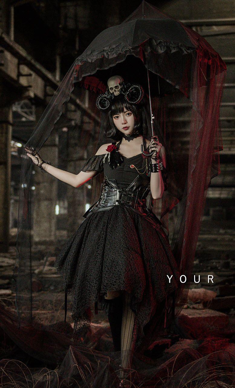 Your highness the dark world gothic lolita jumper dress in
