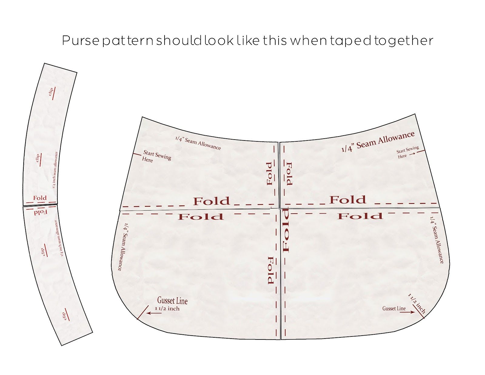 image regarding Handbag Patterns Free Printable named purse layouts print cost-free  down load the practice areas