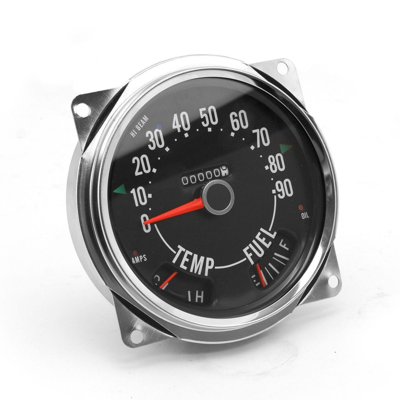 Speedometer Cluster Assembly, 090 MPH; 5575 Jeep CJ5CJ6