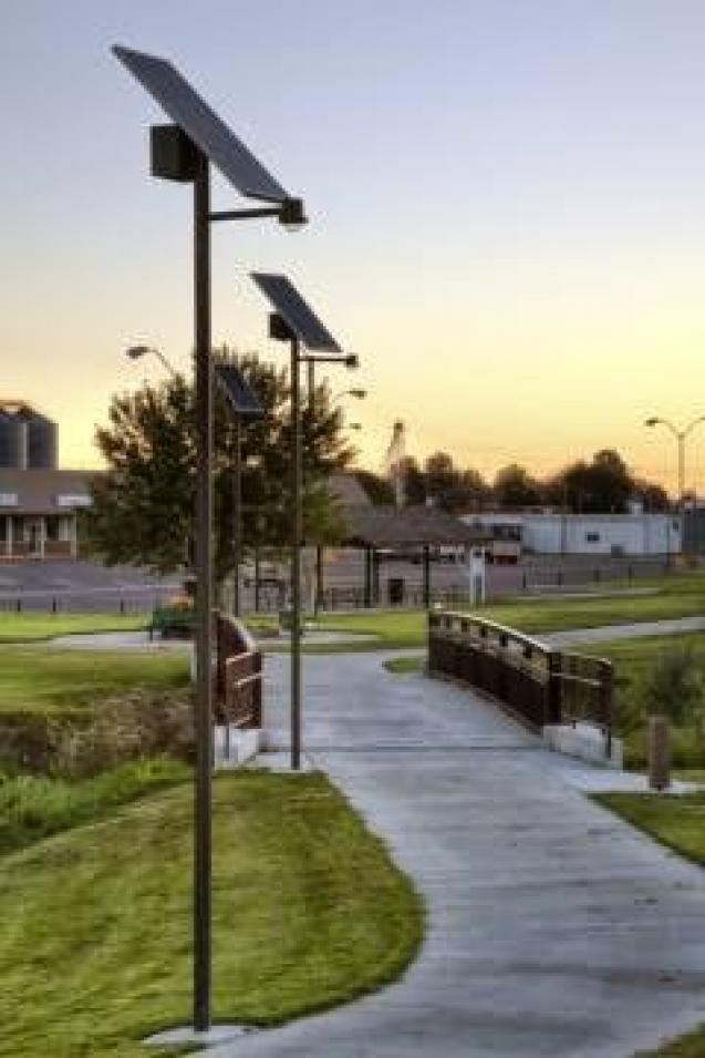 Sol inc installs commercial solar outdoor lighting at trails around sol inc installs commercial solar outdoor lighting at trails around aloadofball Gallery