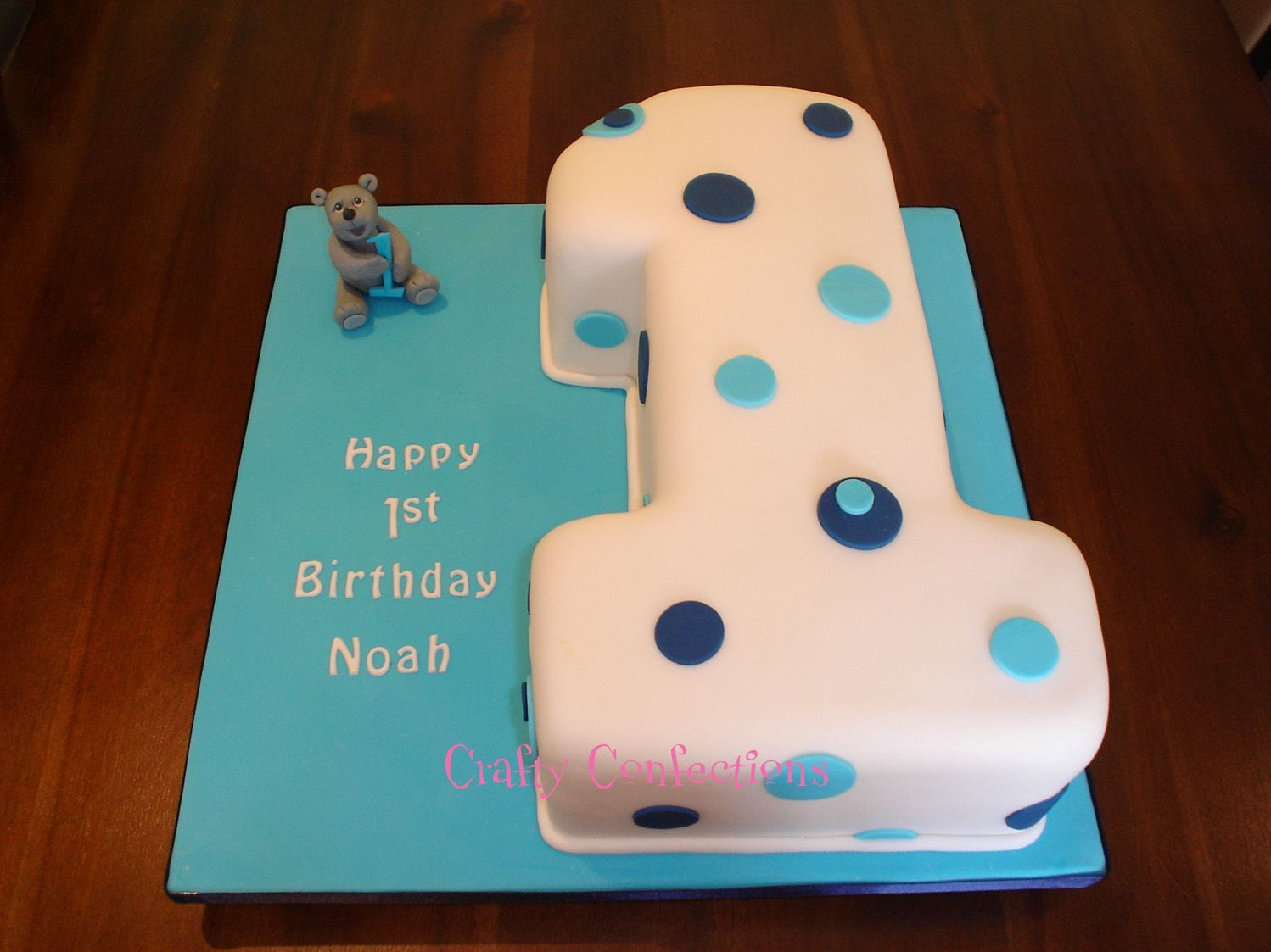 No 1 Birthday Cake No 1 Shaped From A 9 Quot Square Vanilla