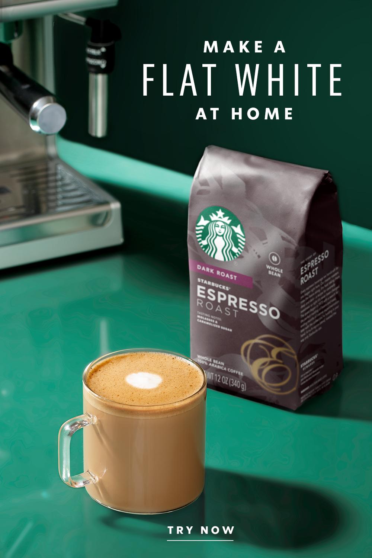 Flat White Starbucks At Home Us Recipe Creamy Coffee White Flats Starbucks Flat White