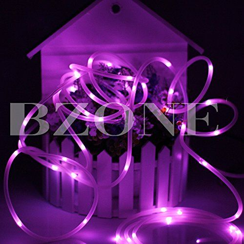 Bzone outdoor solar powered waterproof led rope light pvc tube bzone outdoor solar powered waterproof led rope light pvc tube flexible copper wire led string lights fairy lights pink 50 leds you can get more details aloadofball Images