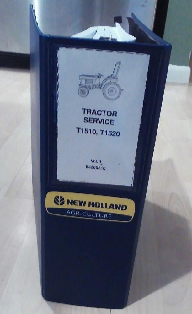 new holland t1510 t1520 tractor shop service manual binder book 10 rh pinterest com New Holland T1520 Snowblower T1510 New Holland Parts