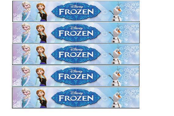 Printable Disney Frozen Water Bottle Labels Diy Por Chriscakeart