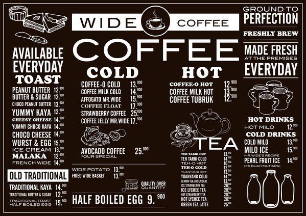 Wide Coffee - Menu by ranny febrianti, via Behance Menu Design
