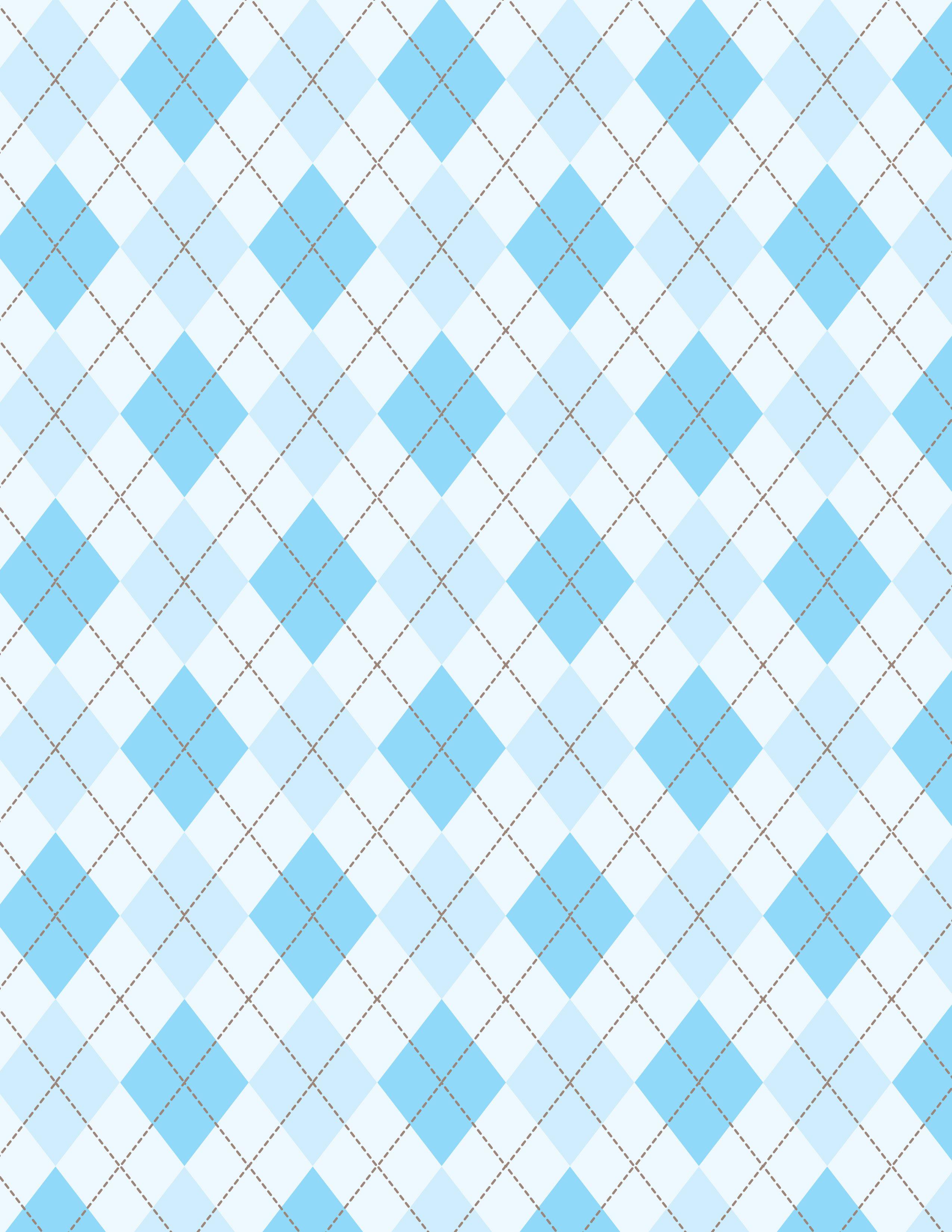 Rombos En Azul Y Blanco 2550x3300
