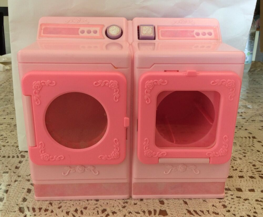 Vntg Barbie Doll Washing Machine Washer Dryer Combo Pink Magic 1991 Mattel Ebay Vintagebarbie Barbiefurni With Images Washing Machine Washer Washer Dryer Combo Barbie