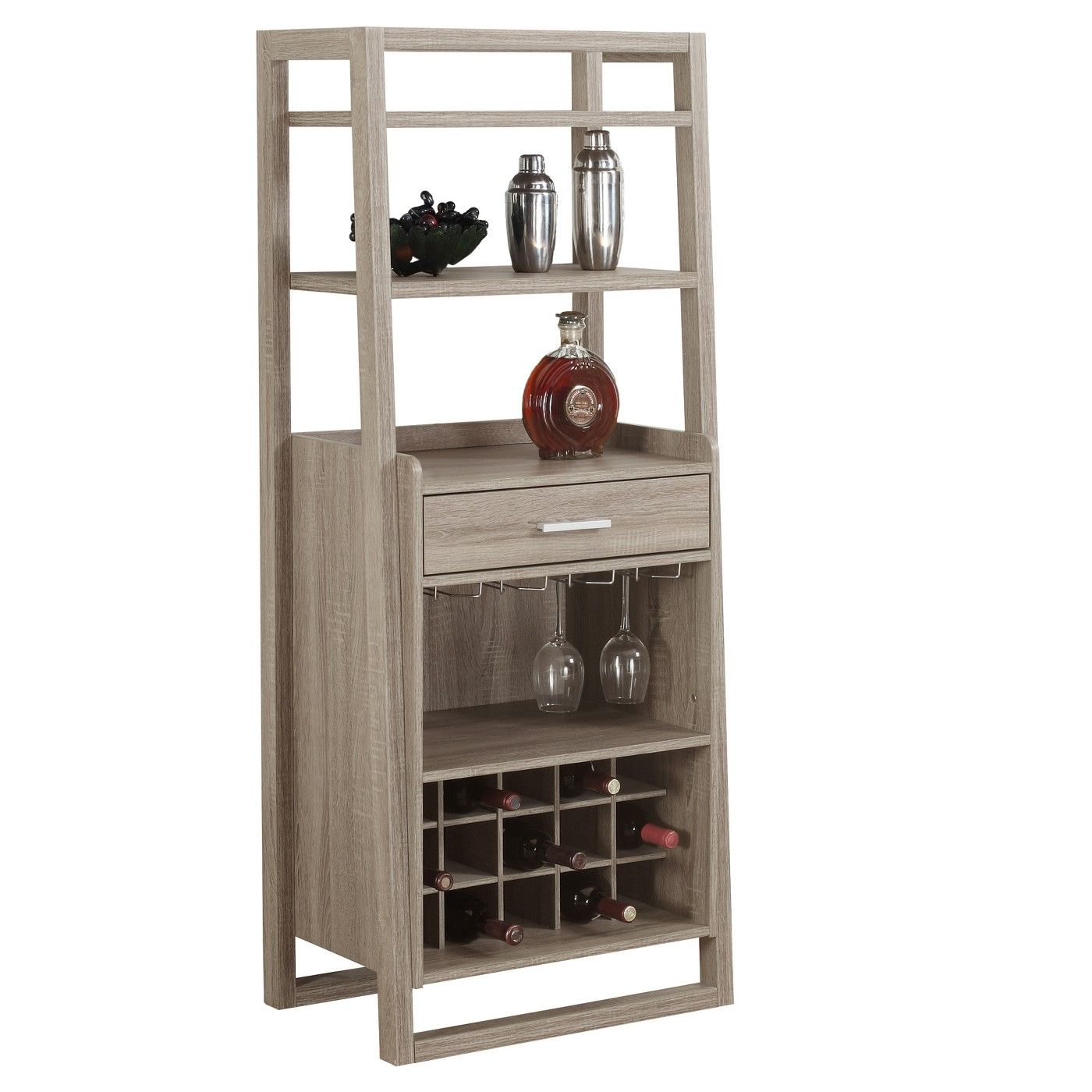 Home bar ladder style everyroom image of decor accents