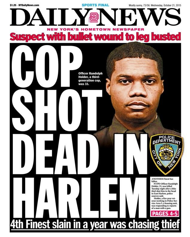 NYPD Officer Randolph Holder is shot and killed in Harlem