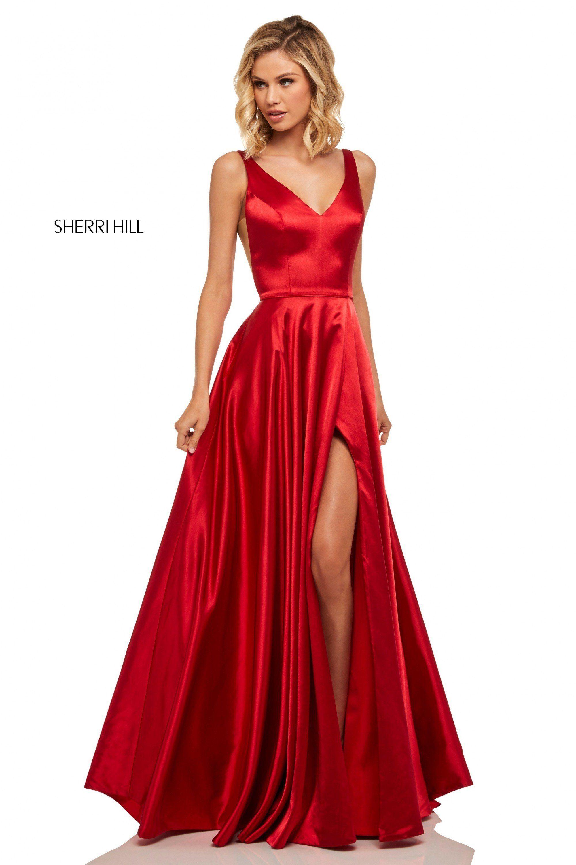 Sherri Hill Coral Prom Dress