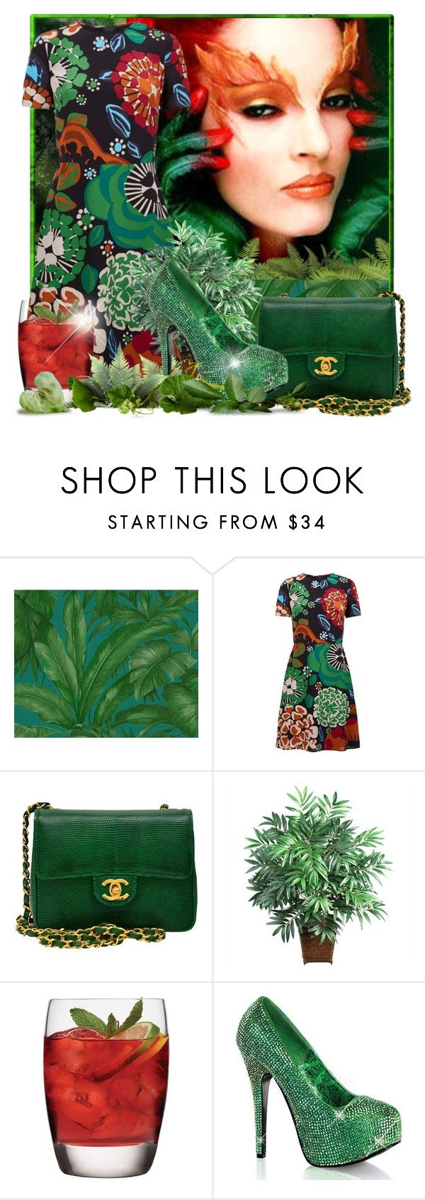 """What's your Poison?"" by doozer ❤ liked on Polyvore featuring Versace, Burberry, Chanel, Nearly Natural, Luigi Bormioli and Bordello"
