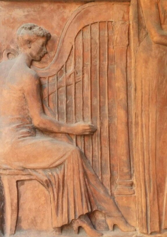 """Le arti"" [The Arts], detail (1957) - Terracotta high-relief by Vittore Callegari (Italian, 1909-1977) - Via Sant'Antonino, 26 - Piacenza, Italy (photo by L'Eterna Sognatrice)"
