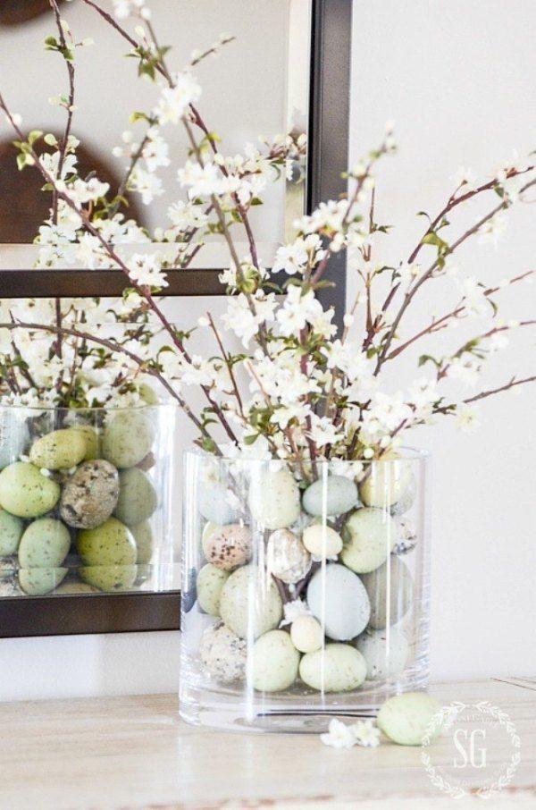 Paastakken Versieren Inspiratie En Ideeen Voor Stijlvolle Paasdecoratie Paasdecoratie Doe Het Zelf Pasen Pasen Middelpunt