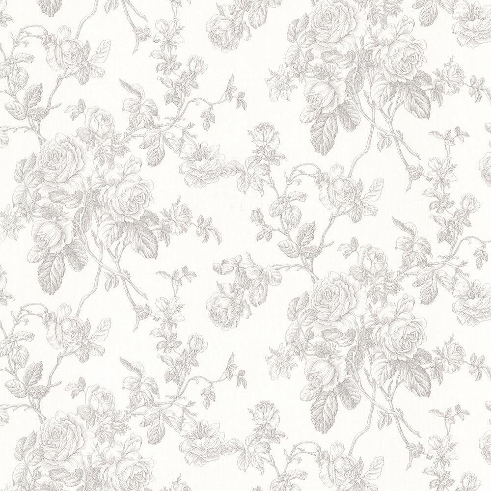 Annie Grey Floral Wallpaper Grey Floral Wallpaper Wallpaper