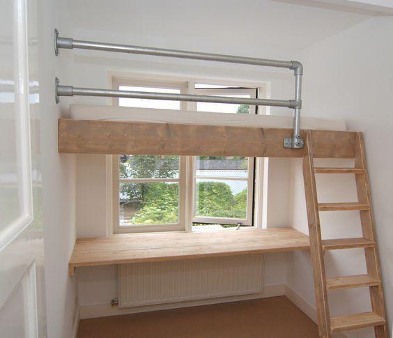 Een Videbed Is Een Bed Wat Op Een Kleine Tussenverdieping In De Kamer Gemaakt Wordt Lekker Veel Ruimte Eronde Loft Beds For Small Rooms Diy Loft Bed Loft Room