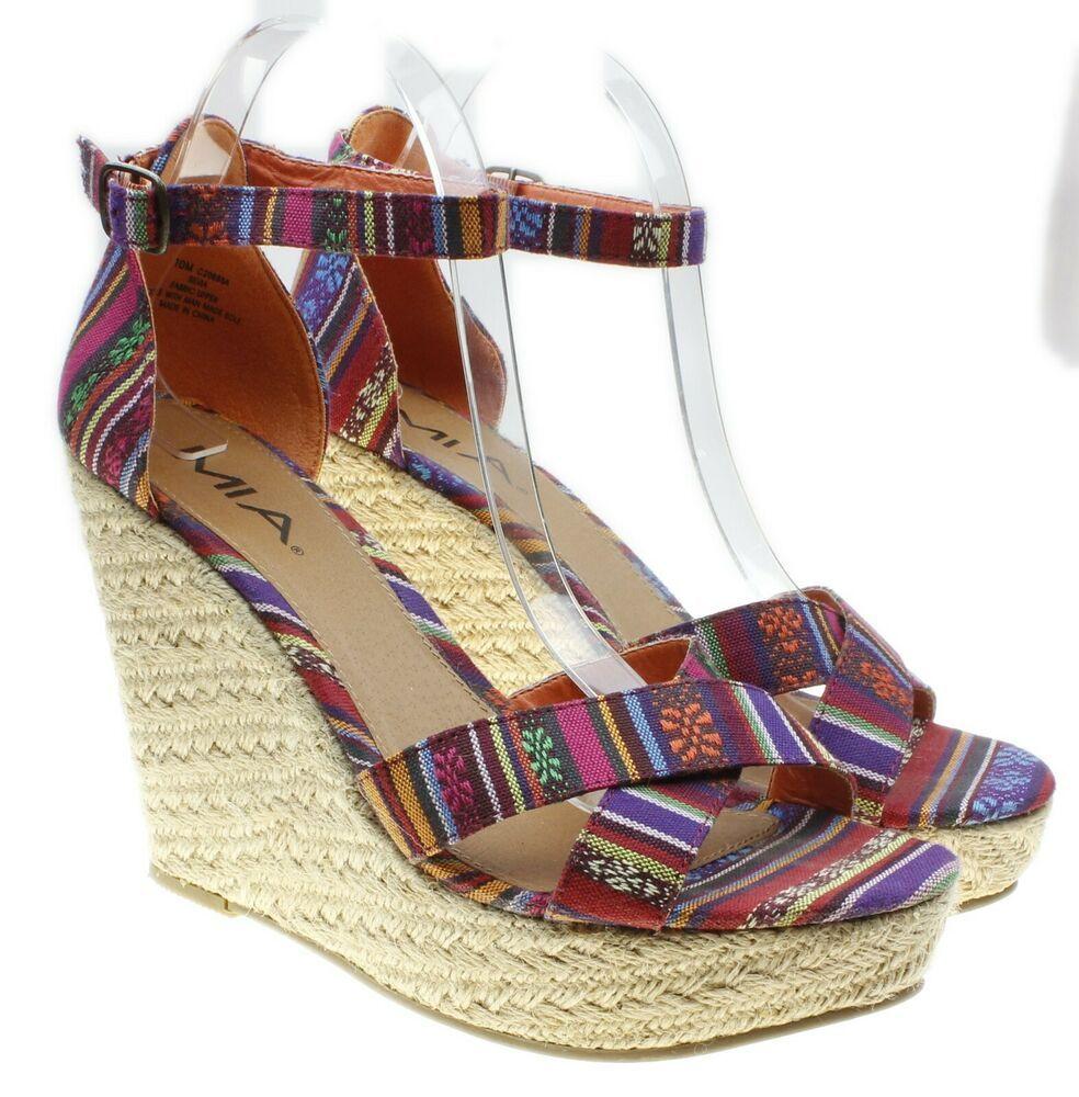 ca818075dee MIA Silvia Womens Multi-color Baha Print Ankle Strap Espadrille ...