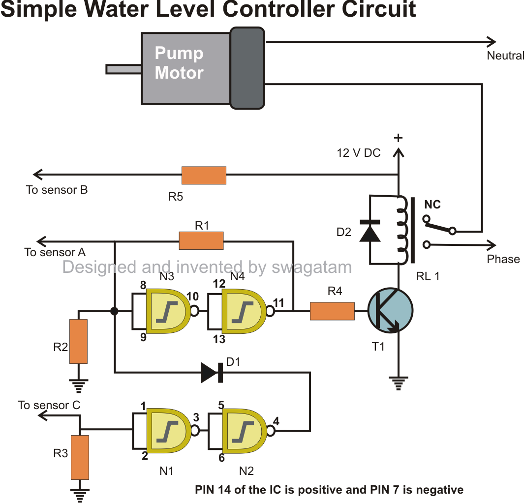 Automatic Water Level Controller With Indicator Circuit Circuits 200m Fm Transmitter Electronic And Diagramelectronics Projects Simple Design