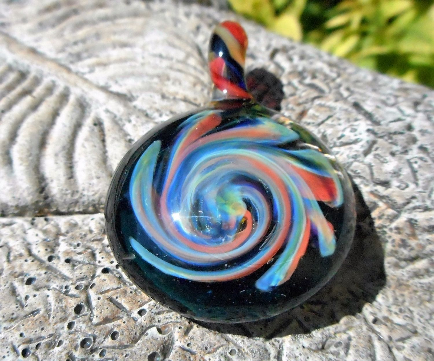 heady glass pendant trippy glass necklace awesome color galaxy with colorful twisted bale trippy glass pendant heady blown glass - Heady Glass Pendants