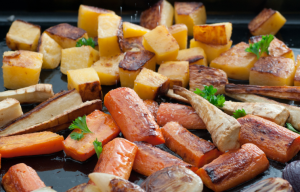 Honey Glazed Root Vegetables with Lavender and Thyme // by Roho Kitchen