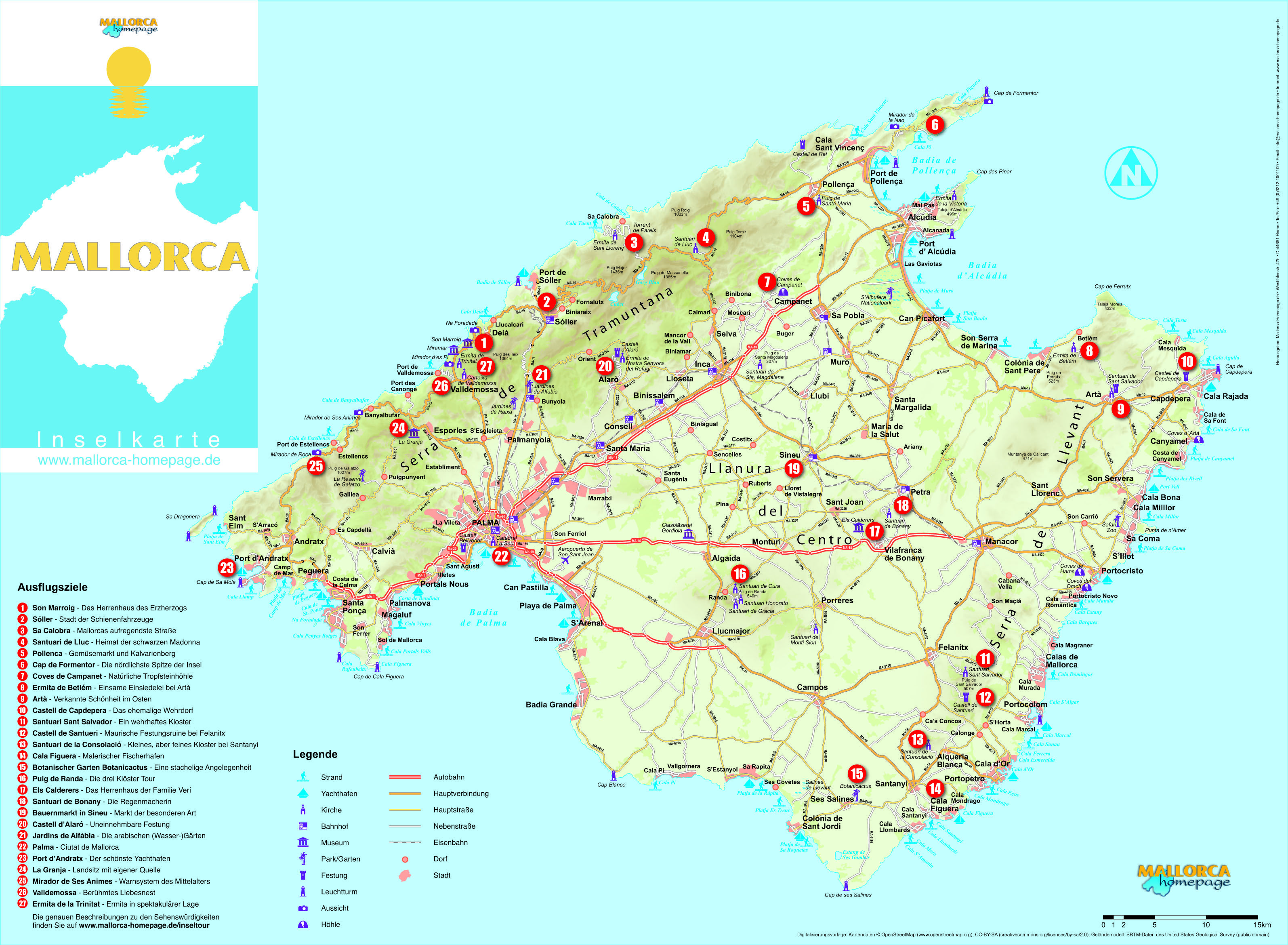 2 Mallorca Karte Jpeg Version Html 3189 2339 Mallorca Karte