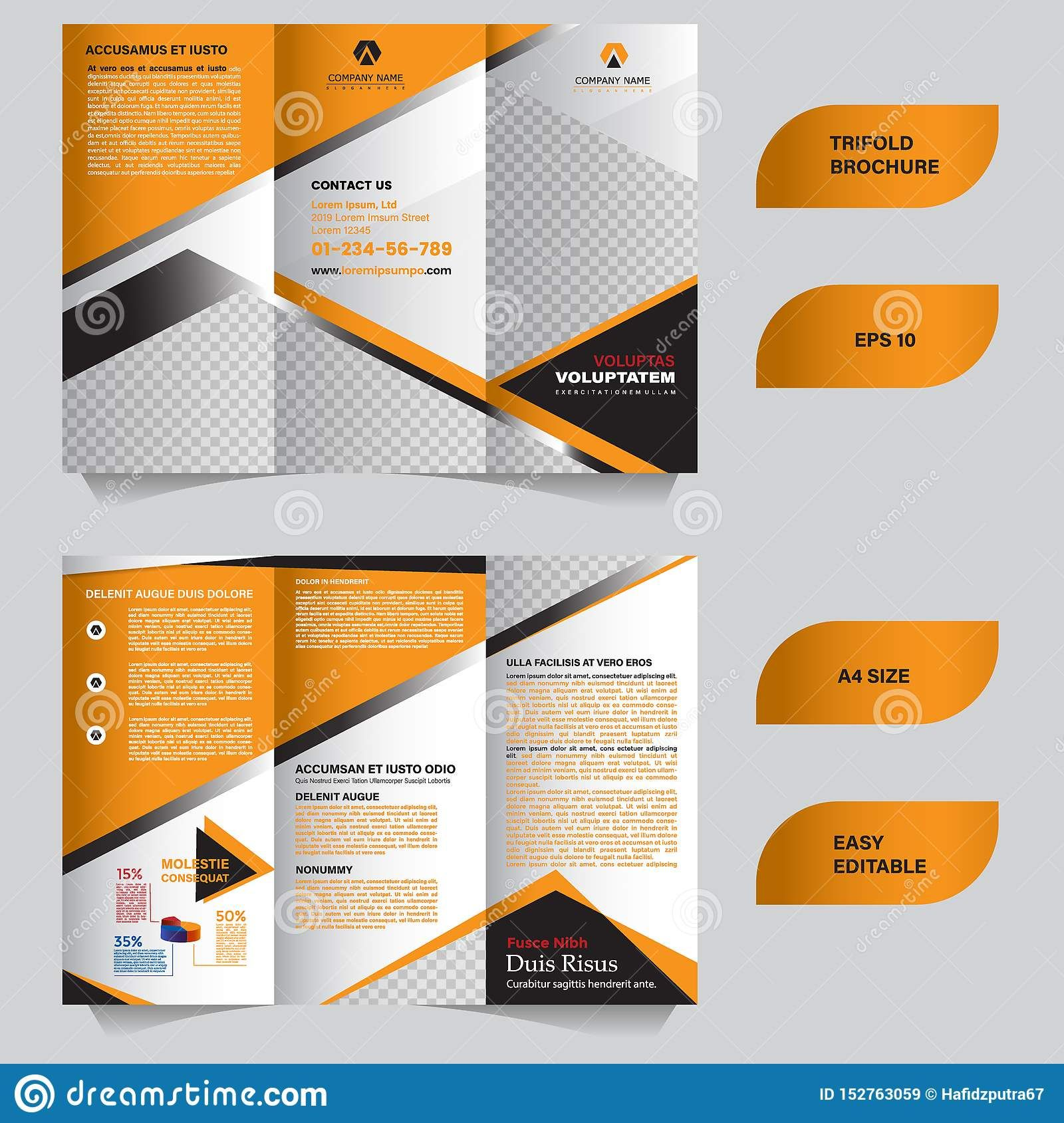 Modern Trifold Brochure Template With Flat And Elegant Pertaining To Tri Fold Brochure Template Il Trifold Brochure Brochure Template Trifold Brochure Template Tri fold brochure template illustrator