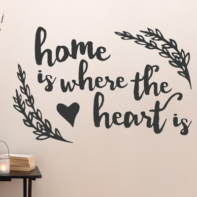 Wallums Wall Decor Where The Heart Is Quote Wall Decal Wall