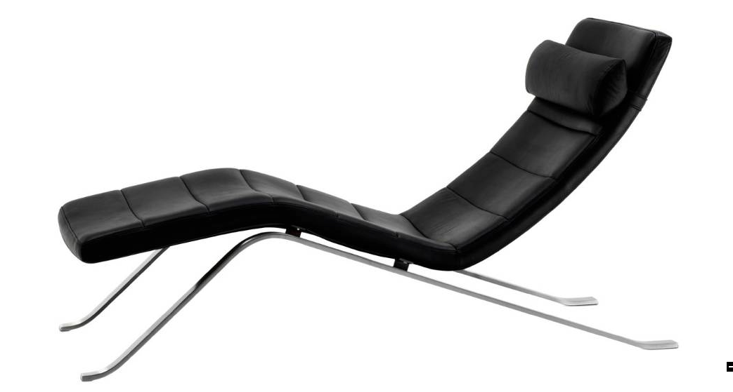 Best Bo Concept S 2 195 Pavia Chaise Lounge Black Leather 400 x 300