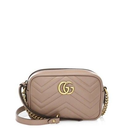21774c79c47 Gucci Marmont Gg Matelasse Mini Camera Nude Leather Cross Body Bag. Get the  trendiest Cross Body Bag of the season! The Gucci Marmont Gg Matelasse Mini  ...