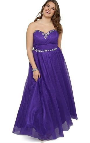 1382894f0a7 Deb Shops Plus Size Strapless Long  Prom  Dress with Stone Neckline and  Soft Skirt  173.61