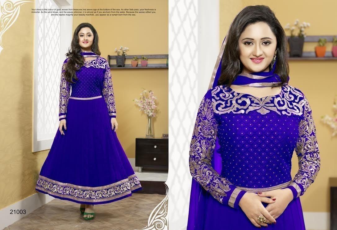 #RashmiDesai In Blue #SalwarSuit  #craftshopsindia