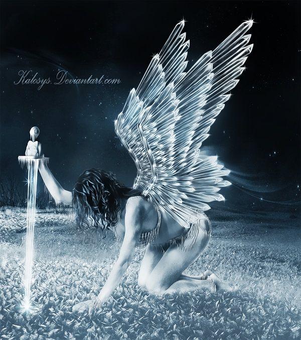 Crystal wings   Fairy angel, Fantasy, Fallen angel