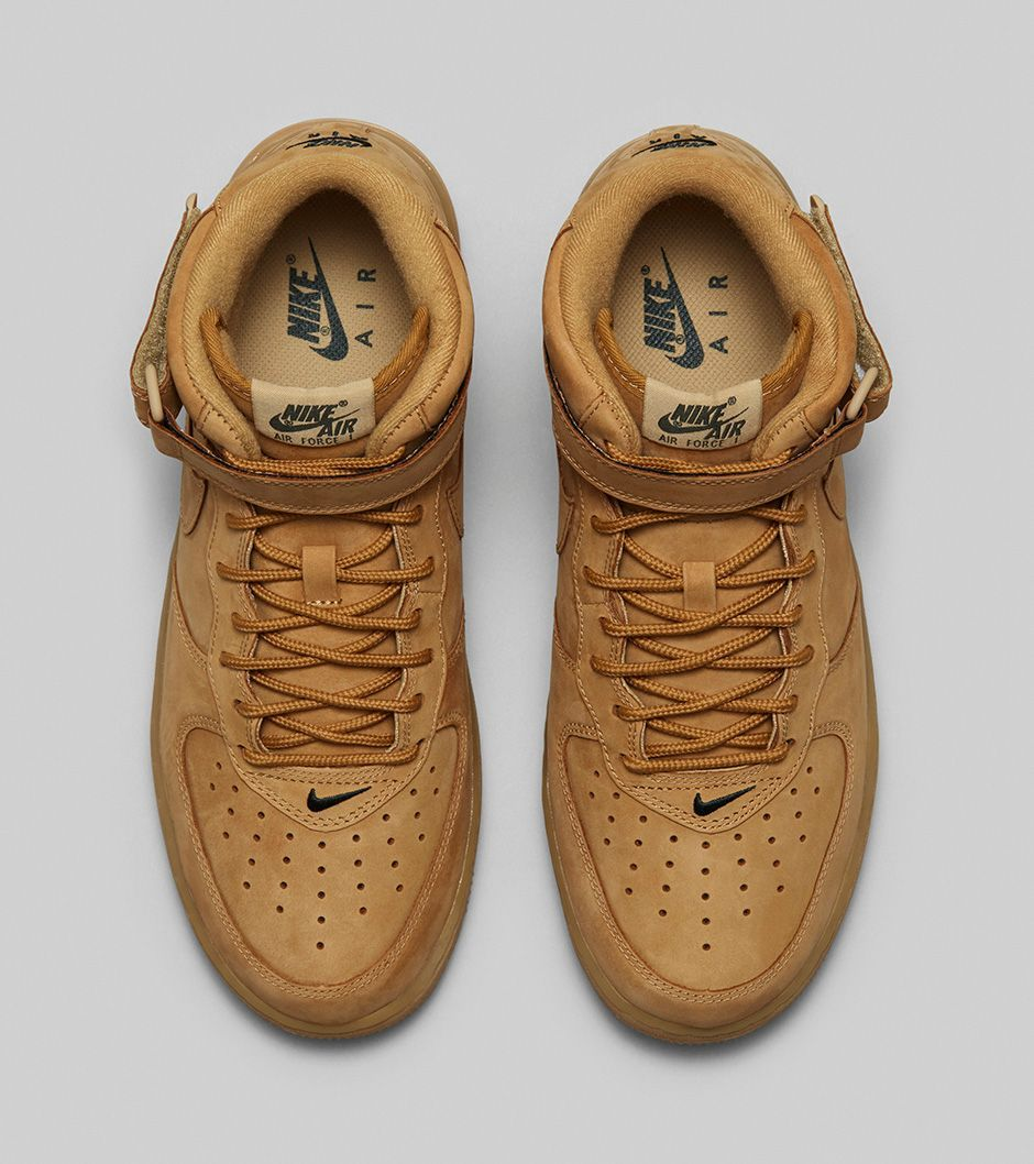 nikelab air force 1 mid flax seed