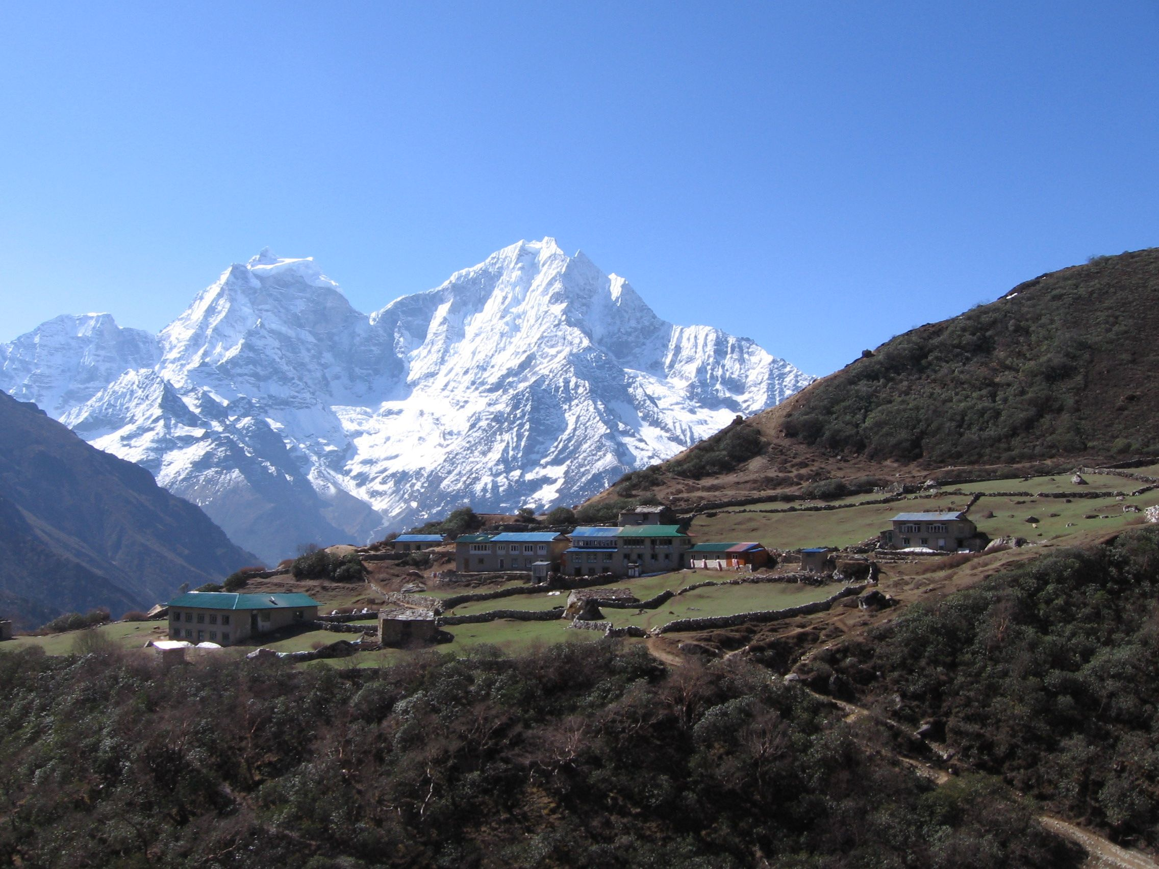 Sherpa yak station on the way to Mt. Everest.