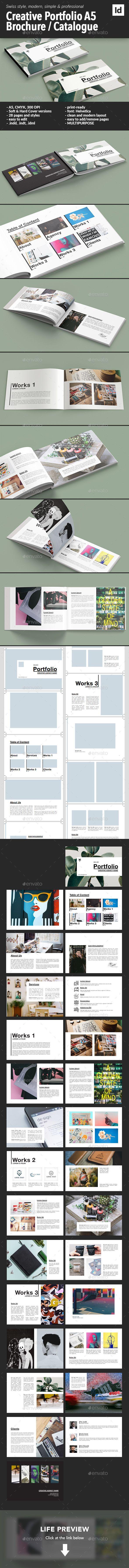 Creative A5 Portfolio Brochure / Catalogue Template