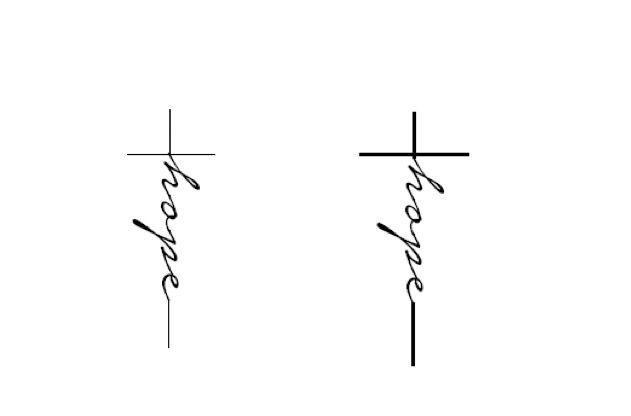 Cross With The Word Hope Tattoo Tattoo Pinterest Tattoo Tatoo And Tatting
