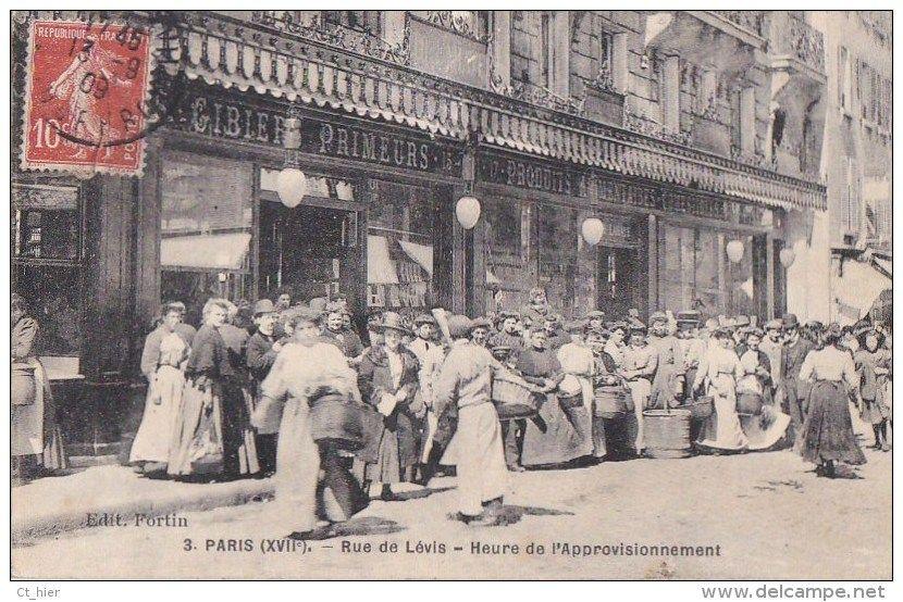 Paris Xvii Editeur Local Fortin N 3 Rue De Levis Animee Devanture Boutique Produits Alimentaires Timbre 1909 Arr Paris Photo Carte Postale Histoire De Paris