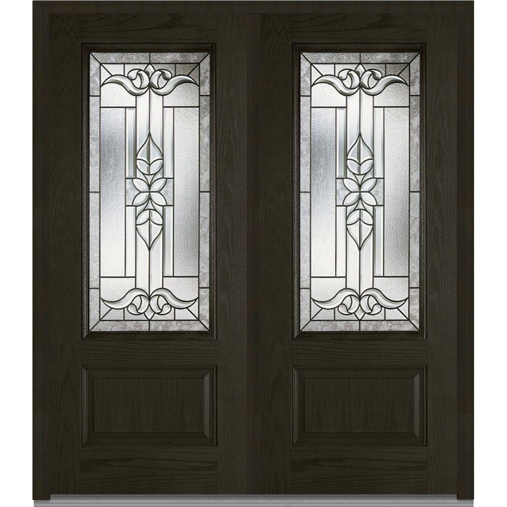 Merveilleux Milliken Millwork 72 In. X 80 In. Cadence Decorative Glass 3/4 Lite. Double  DoorsDecorative GlassFront ...