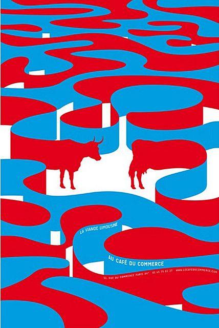 Untitled poster by Japanese graphic designer Shigeo Fukuda (1932-2009). via design union.ru