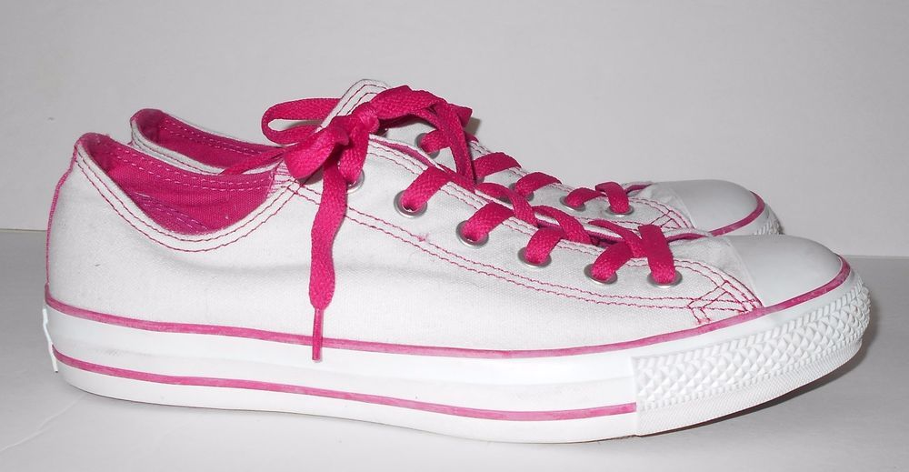 4440399a7f33 Converse All Star Chuck Taylor White Hot Pink Sneakers Shoes Men s 8 Women s  10