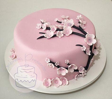 Cherry Blossom Cake With Images Cherry Blossom Cake Cake