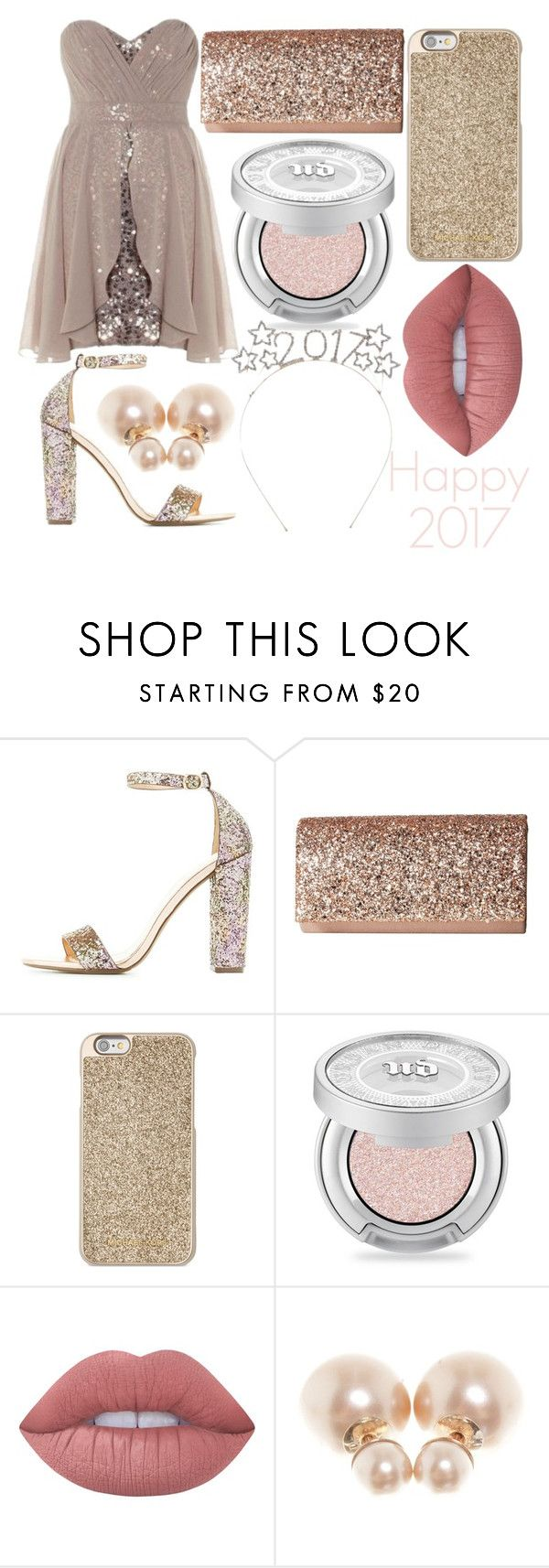 """""""Happy 2017!"""" by kaitlyn-ashby101 ❤ liked on Polyvore featuring Charlotte Russe, Jessica McClintock, Michael Kors, Urban Decay, Lime Crime and Christian Dior"""