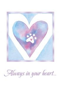 With You Always Pet Sympathy Card and Wristband, $9.25