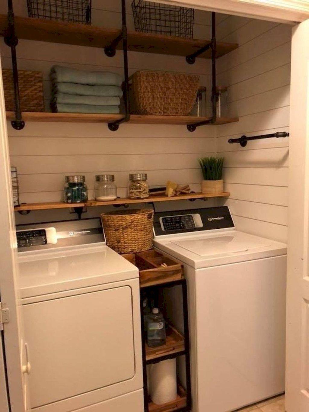 55 Small Farmhouse Laundry Room Decor Ideas images