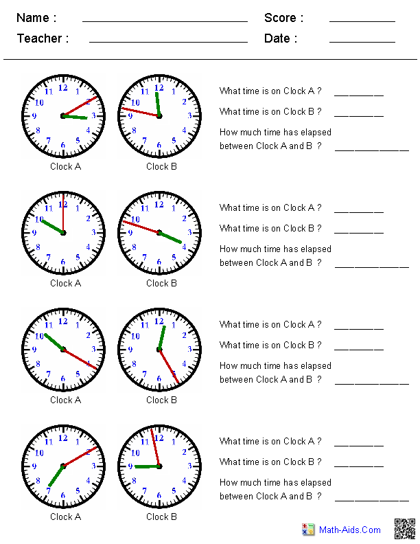 Great worksheets for time. All different levels of