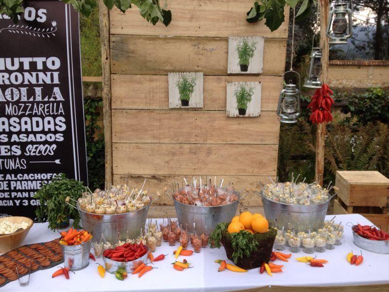 Estación de Ceviches Boda Rustica by MY Group Eventos