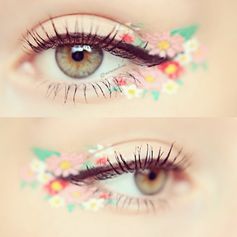 This wild floral eye makeup certainly isn't for everyday, but it IS a fun whimsical look. #beauty #makeup