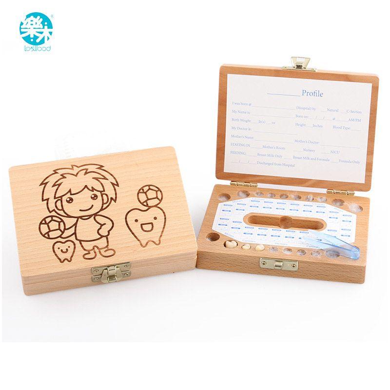 Denti Box organizzatore per il bambino risparmia Latte denti di Legno scatola di immagazzinaggio grandi doni 3-6YEARS creativo per bambini per i ragazzi