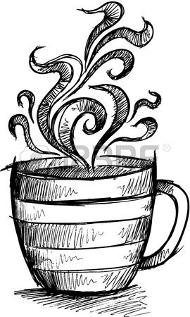 Sketch Doodle Coffee Cup Illustration Art | Paintings | Pinterest ...