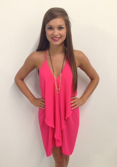 hot pink dress  #swoonboutique